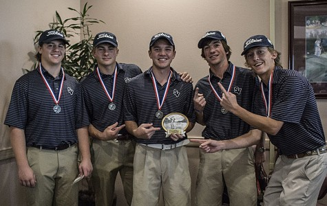 Geric Wilson, Paul Hankosky,  Jordan Stagg, Keith Shoemake and Michael Sanders celebrate their second place win at the Fort Sam Houston tournament on March 7.