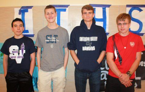 From left: Ethan Howell, Brendan Klar, Colt Hermesch and Mateusz Garstecki
