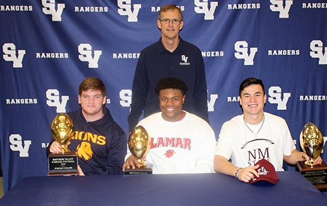 Three sign college football commitments