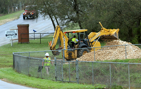 The drainage project begins and will continue on Monday with the front gate being closed.