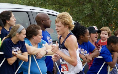 Junior Clayton Wilkerson competes at the state cross country meet Nov. 4 at Round Rock.