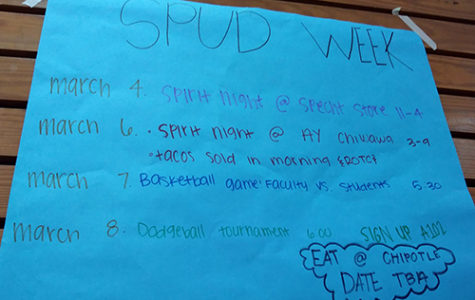 SPUD week will be March 5-9. The events will raise money for the Leukemia Lymphoma Society.