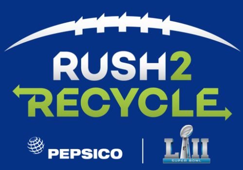 The Rush2Recycle project encourages fans to limit waste at the stadium and at home.