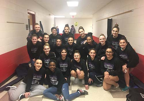 Winter guard wins first place at the North Zone Championships and advances to State Championships for TECA.