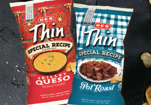 H-E-B is selling these flavored chips, Skillet Queso and Pot Roast, for a limited time only.