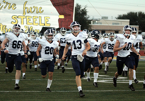 The football team takes the field tonight at Ranger Stadium against Midland Lee Rebels. Kickoff is at 7:30 p.m,.