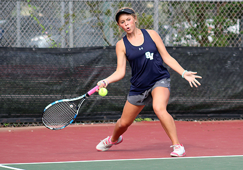 Team tennis ended the regular season in third place behind Clemens and New Braunfels.