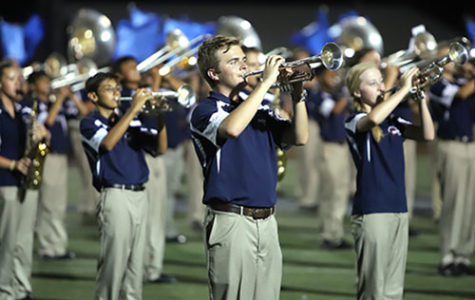 Band and color guard marches into first place