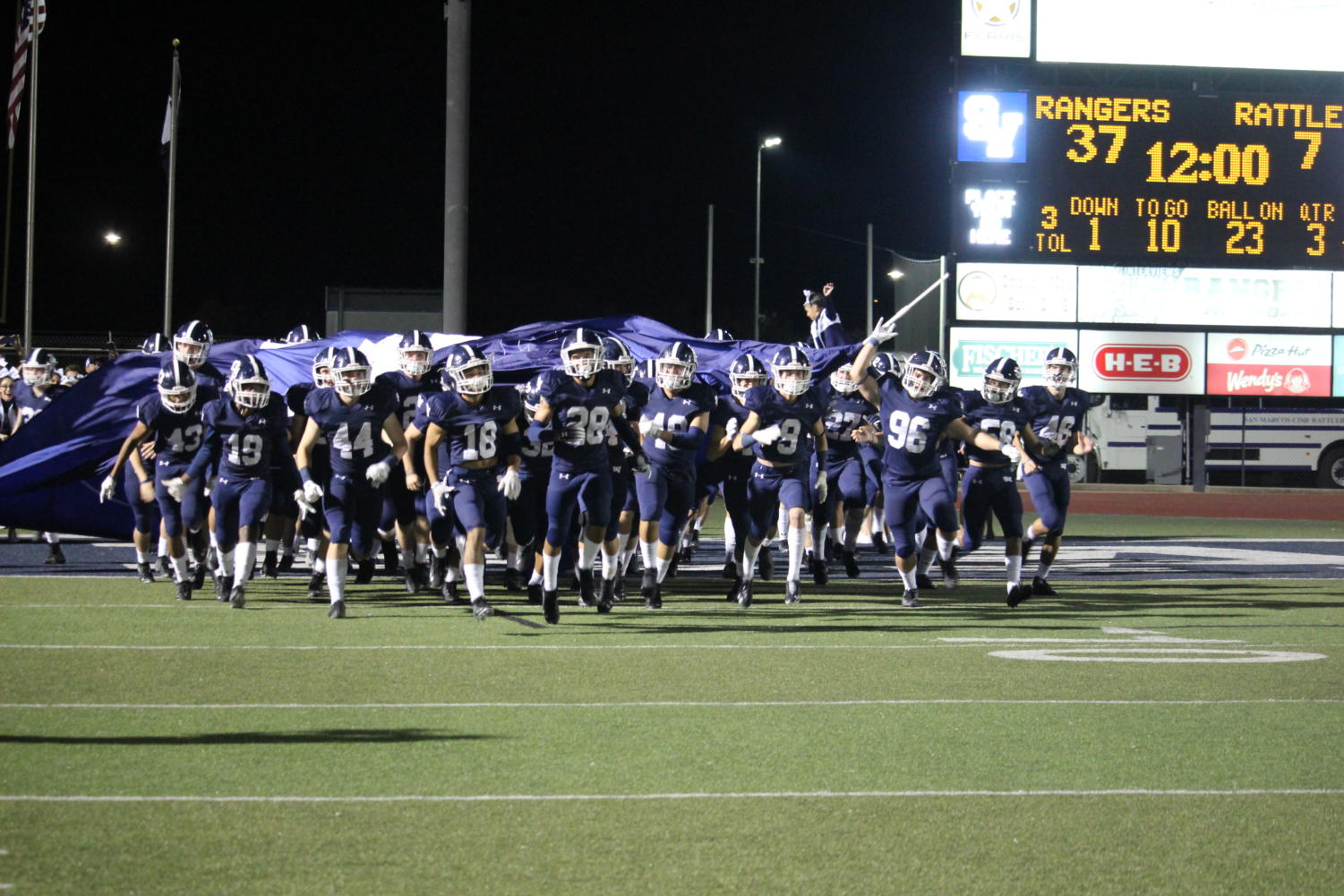 Football defeated New Braunfels, 20-3 to clinch a playoff birth where they will play powerhouse Lake Travis on November 16th at 7:30 p.m. in Austin.