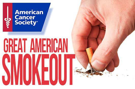 Nov. 15 is the day where smokers can take the first step to quitting, the Great American Smokeout is a time of support for all of those addicted to nicotine.
