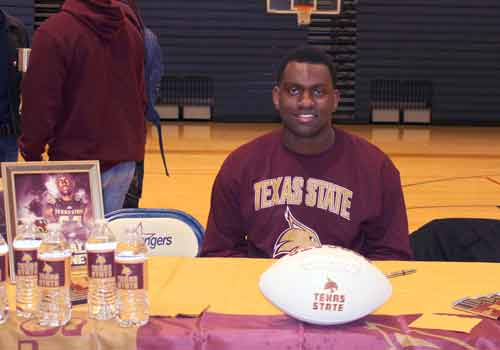 Offensive lineman Ronald Copney will play down the road at Texas State University.