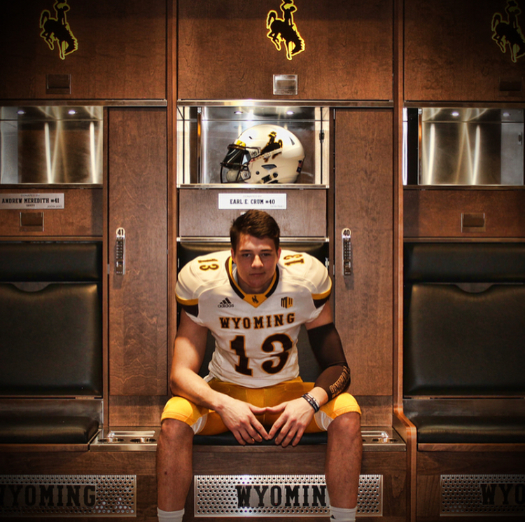 Levi Williams verbally committed to the University of Wyoming on Sunday.