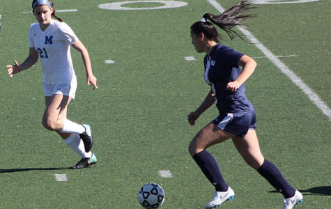 """Playing against MacArthur on Feb. 5, Mendoza works on her skills often in hopes to finish her last season on a strong note.  She has played on the varsity team for the past four years. """"My personal goals for this season are to get more goals and assists than I did last year,"""" Mendoza said. """"And also to get first team all district again."""""""