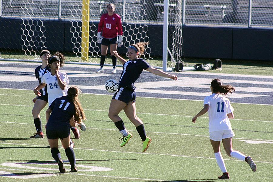 Senior Sarah Cyphers takes her soccer skills to Texas Lutheran University next year.