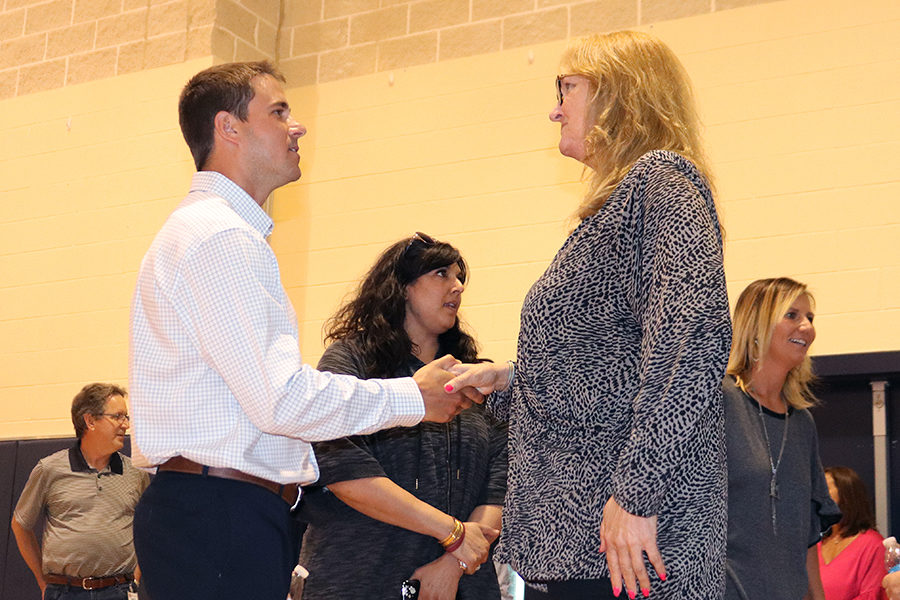 New coaches greet players, parents