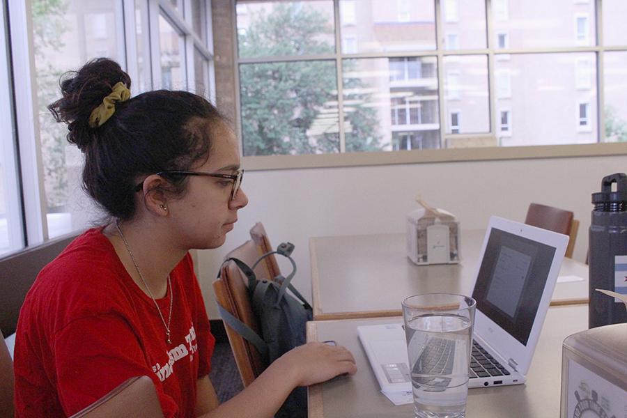 During a summer journalism workshop, senior Laney Rendon enjoys her last summer before graduation.