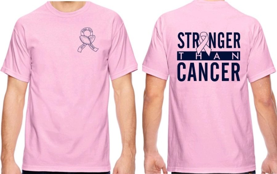 Student Council members will have a stand outside the cafeteria in order for students to buy Pink Out shirts until Oct. 25, 2019, the day of the game.