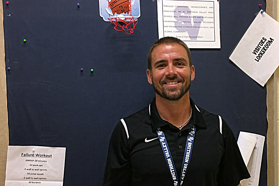 Girls' basketball coach, Mathew Sutherland settles into new office and a new team.