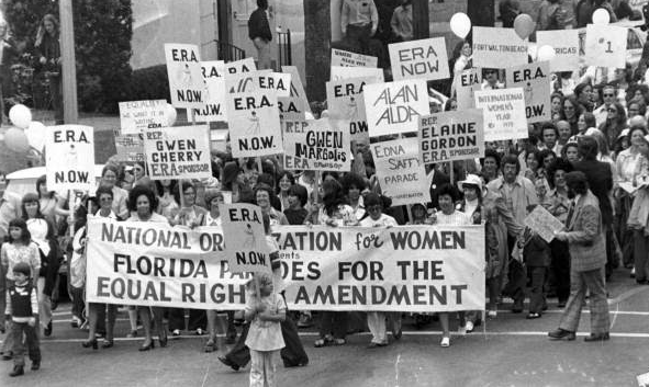 Florida citizens march for the Equal Rights Amendment