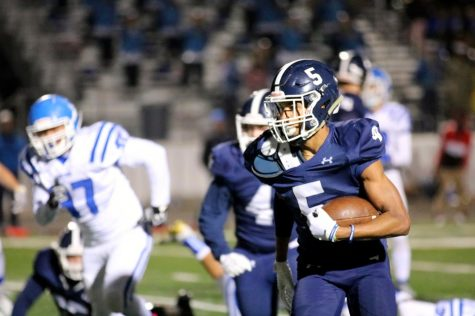 Running back Greg Eggleston runs with the ball during a game against San Marcos. Eggleston will sign with Tarleton State University on Wednesday.