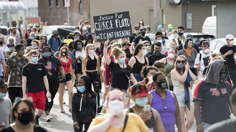 Protesters flood the streets of Minneapolis after the murder of George Floyd. The incident sparked riots across the nation.