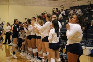 The team celebrates a great match against Canyon