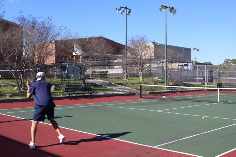 Robert Phillips prepares for a new season. Tennis has finished 3rd each of the past three years.