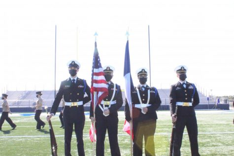 JROTC and color guard perform at this past semester