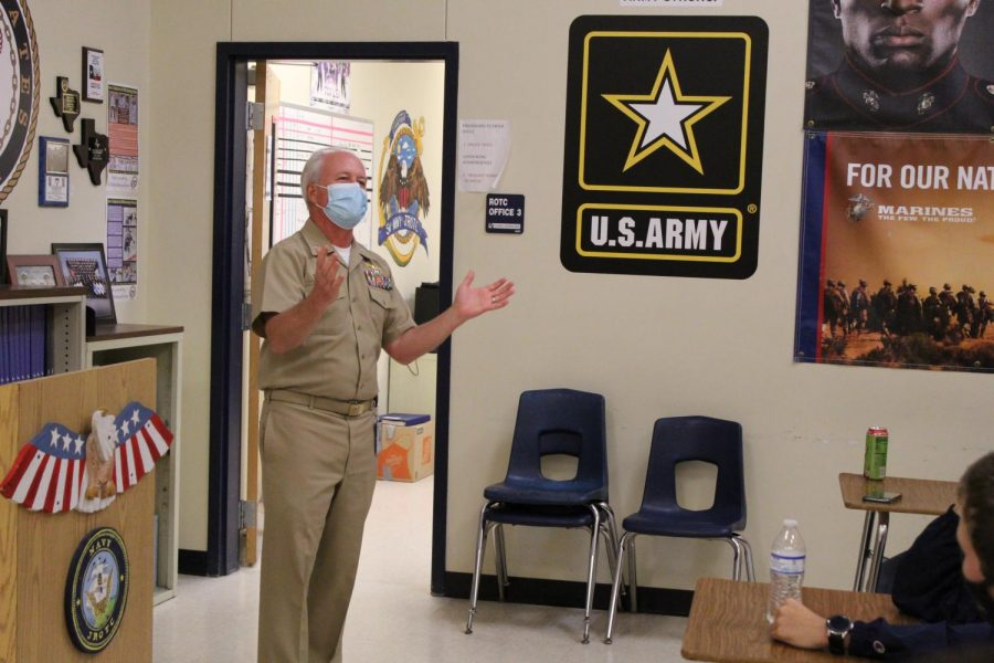 The+new+JROTC+Commander+spoke+to+his+cadets+on+academic+integrity.
