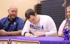 Nathan Mocygemba signed to play football at the University of Mary Hardin-Baylor. Mocygemba played as a lineman for the Rangers, earning All-District honors as a junior.