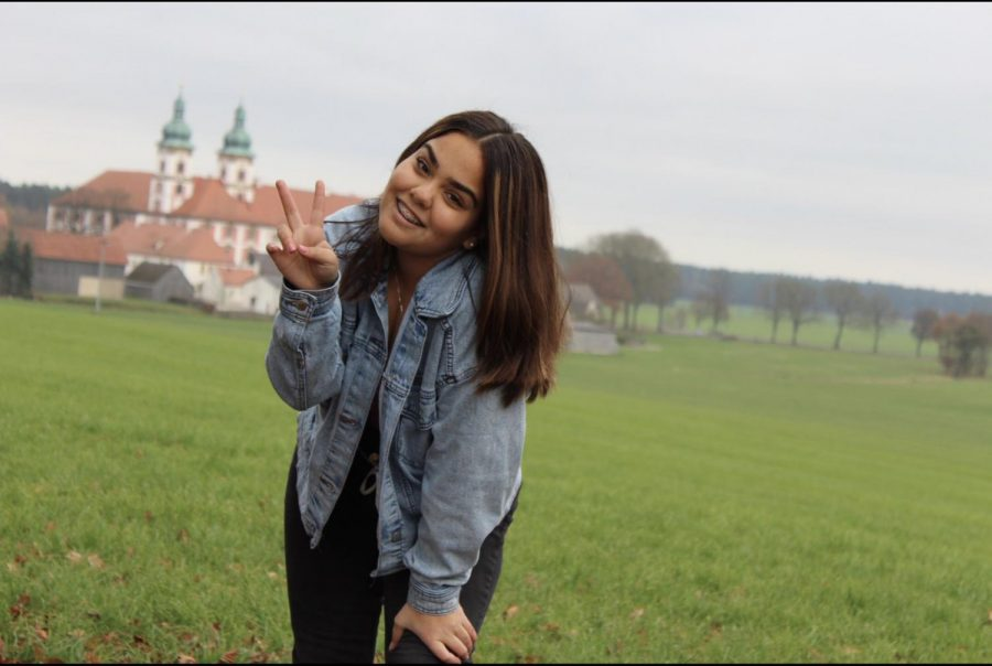 Isabella Riveron visiting a small village while traveling in Austria.
