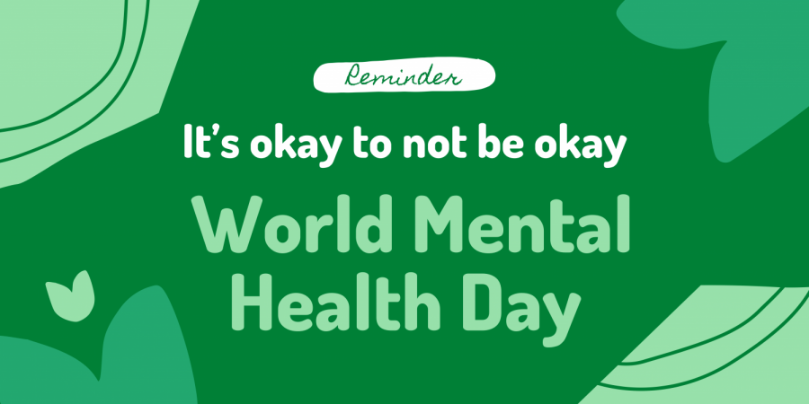 Students were asked to wear green on Monday to recognize National Depression and Mental Health Screening Month. (Graphic made via Canva)