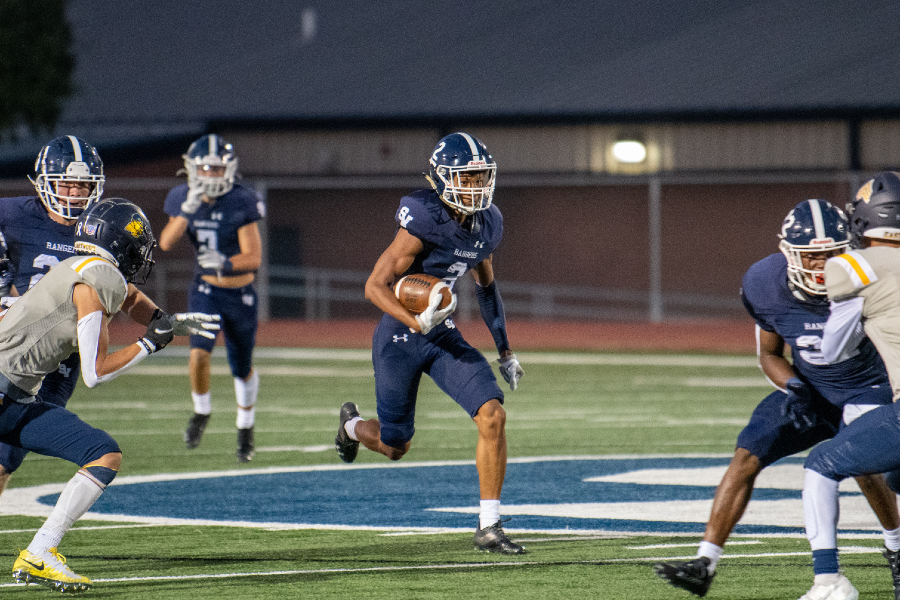 Garrison Eggleston runs up the middle against El Paso Eastwood.